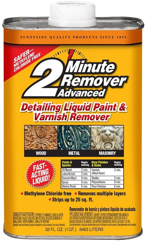 2 minute wood stain remover