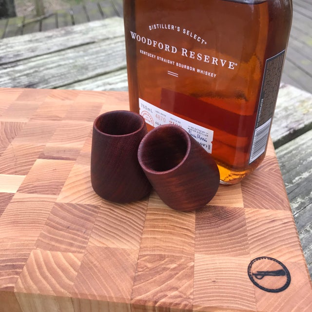 wood drinking cups
