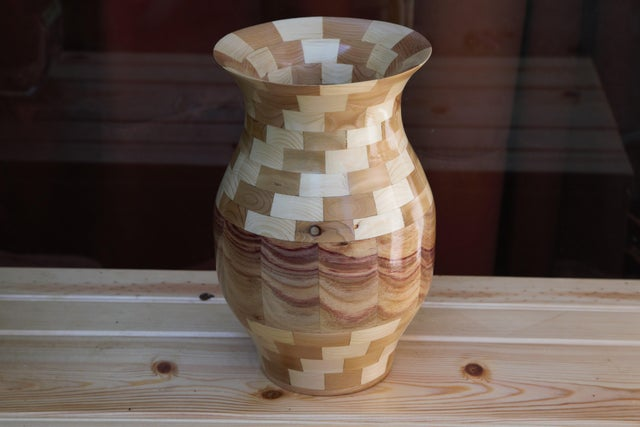 wood pot for plant